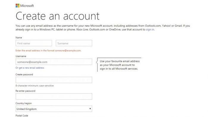 آموزش ساخت حساب کاربری مایکروسافت