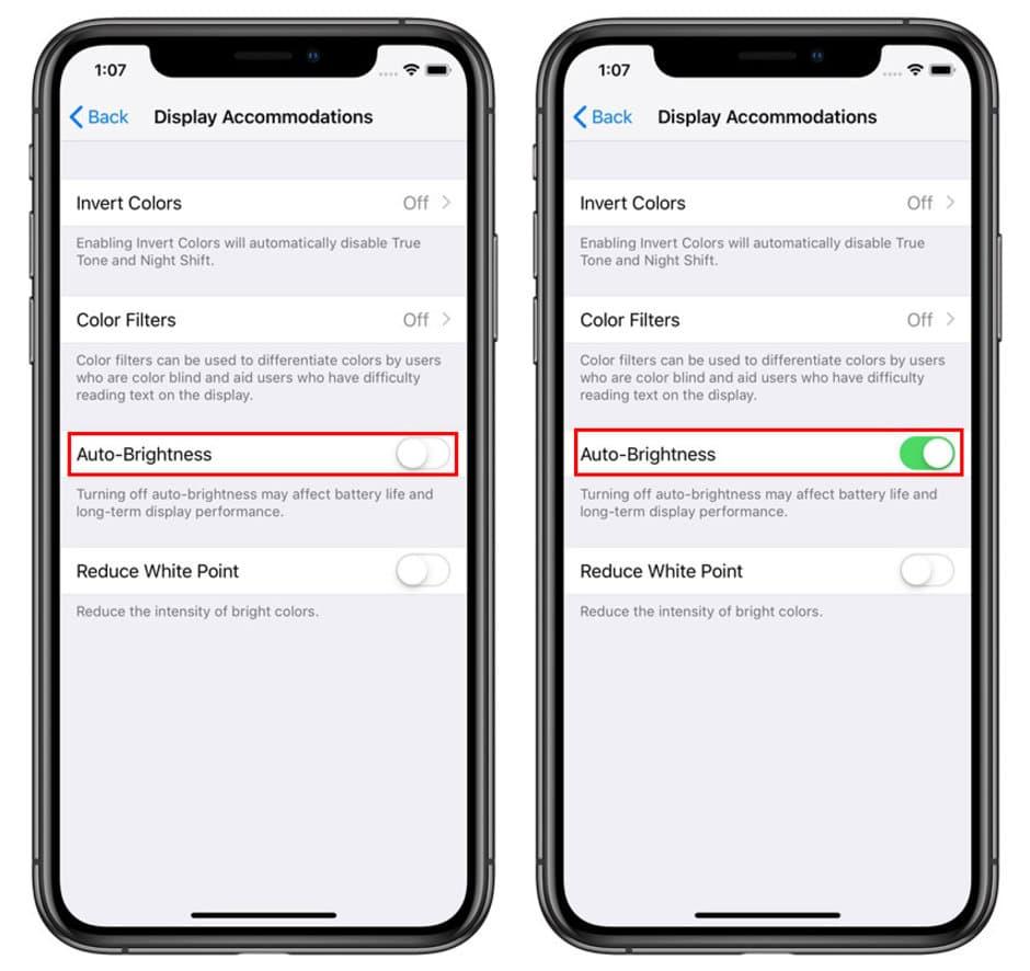 چگونه در گوشیهای جدید آیفون قابلیت روشنایی خودکار را فعال یا غیرفعال کنیم؟