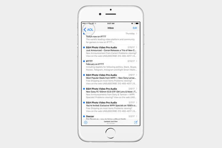 آموزش بازیابی ایمیل حذف شده در آیفون و آیپد